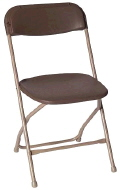 Rental store for CHAIR, PLASTIC FOLD BROWN in Poughkeepsie NY