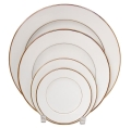 Rental store for PLATE, BUFFET IVORY GOLD RIM 12 in Poughkeepsie NY
