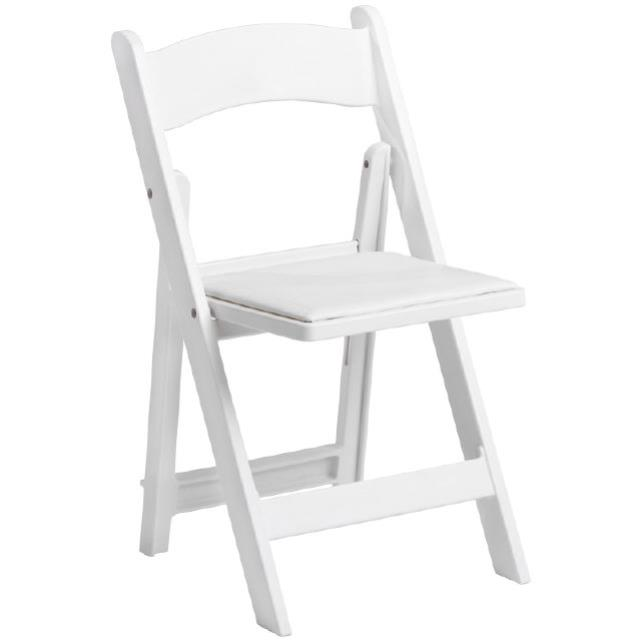 Where to find CHAIR, WHITE RESIN PADDED in Poughkeepsie