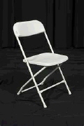 Rental store for CHAIR, PLASTIC WHITE FOLDING in Poughkeepsie NY