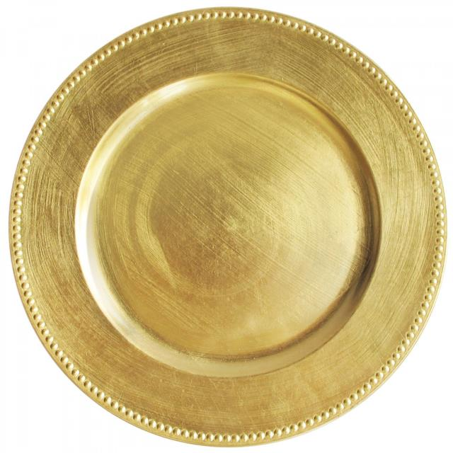 Where to find PLATE CHARGER ACRYLIC GOLD13  BEADED in Poughkeepsie